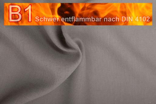 Sackleinen Jute B1 farbig 130 cm Grau