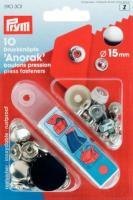 Druckknopf 15mm silber - 10 Stück