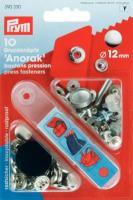 Druckknopf 12mm silber - 10 Stück