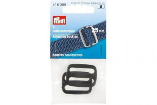Leiterschnalle schwarz 25mm - 2 Stück