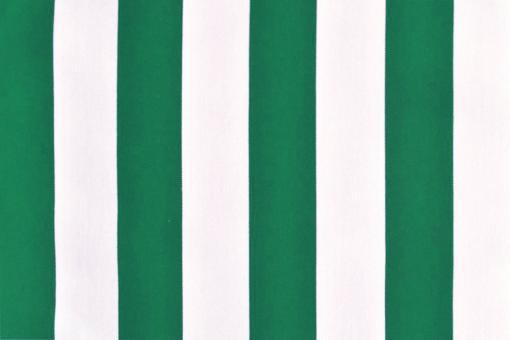 Polyester-Stoff - reißfest und wasserdicht - Blockstreifen Grün/Weiß