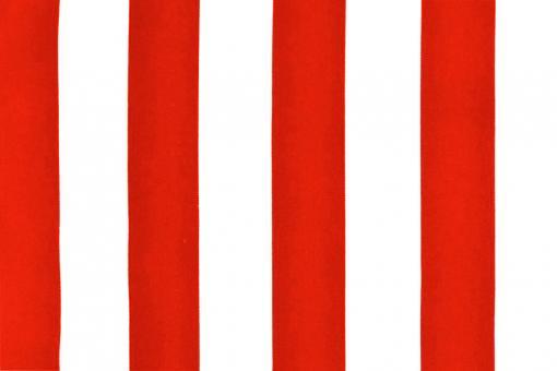 Polyester-Stoff - reißfest und wasserdicht - Blockstreifen Rot/Weiß
