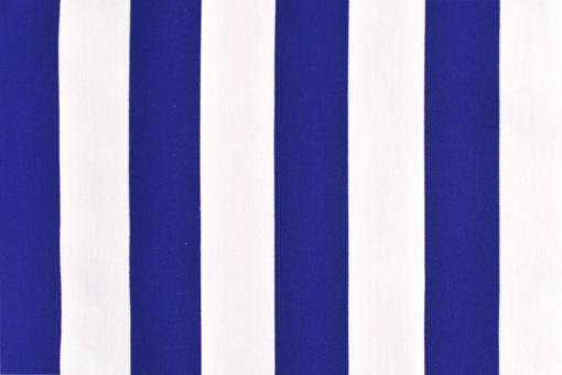 Polyester-Stoff - reißfest und wasserdicht - Blockstreifen Royal/Weiß