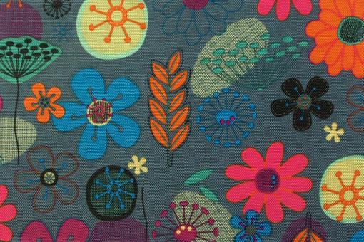 Bunte Blumen - Polyesterstoff reißfest und wasserdicht