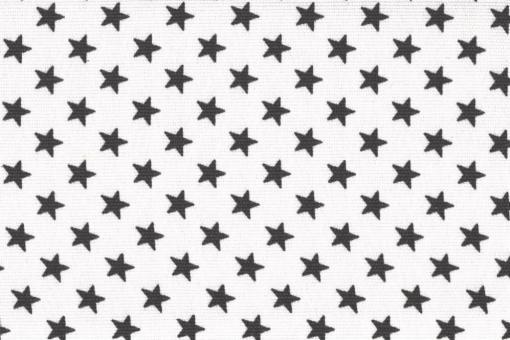 Sonnenschutz-Panamagewebe - kleine Sterne - 280 cm Weiß/Grau