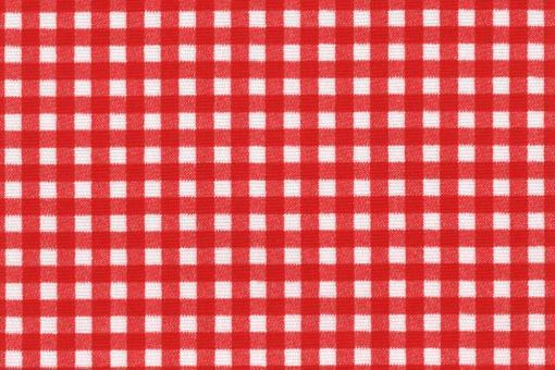 Sonnenschutz-Panamagewebe - Vichy-Karo - 280 cm Weiß/Rot