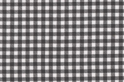 Sonnenschutz-Panamagewebe - Vichy-Karo - 280 cm Weiß/Grau