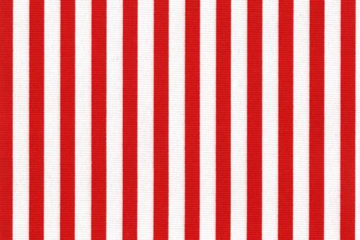 Sonnenschutz-Panamagewebe - gestreift - 280 cm Rot/Weiß
