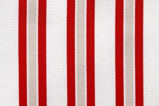 Sonnenschutz-Panamagewebe - Multistreifen - 280 cm Rot/Weiß
