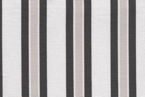 Sonnenschutz-Panamagewebe - Multistreifen - 280 cm Grau/Weiß