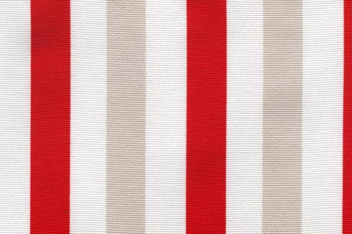 Sonnenschutz-Segeltuch - Blockstreifen - 280 cm Rot/Weiß