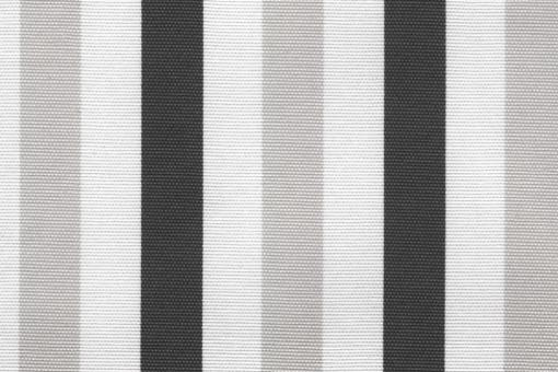 Sonnenschutz-Segeltuch - Blockstreifen - 280 cm Grau/Weiß