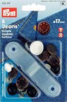Jeansknöpfe 17mm - 8 Stück