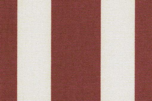 Markisen-Stoff Spain Sun - wasserdicht - Blockstreifen - Bordeaux/Creme