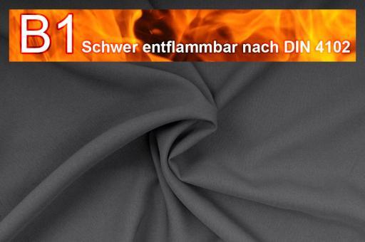 Allround Stoff - schwer entflammbar Dunkelgrau