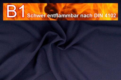 Allround Stoff - schwer entflammbar Nachtblau