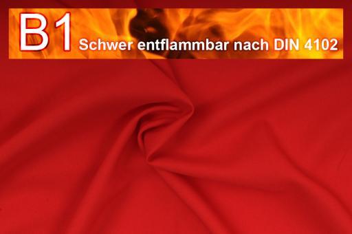 Allround Stoff - schwer entflammbar Rot