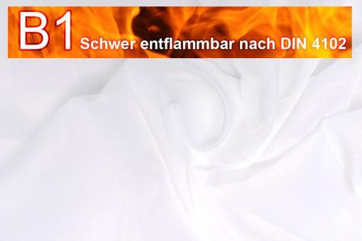 Beschattungsstoff - leichte Baumwolle - B1 - 520 cm Weiß