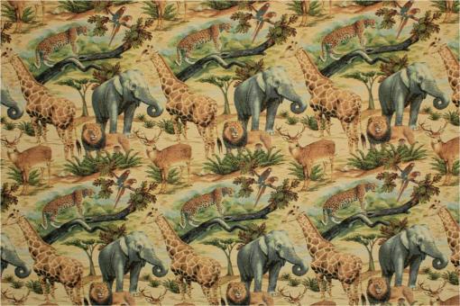 Gobelin - Safari Collage- Bunt