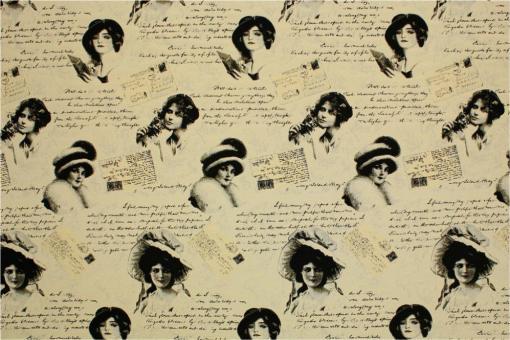 Zweiseitiger Jacquard - Madmoiselle- Schwarz