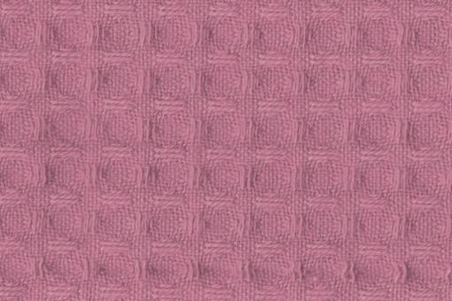 Baumwoll Waffel-Piqué - Uni Altrosa