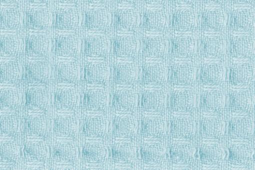 Baumwoll Waffel-Piqué - Uni Hellblau