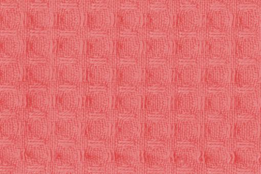 Baumwoll Waffel-Piqué - Uni Koralle