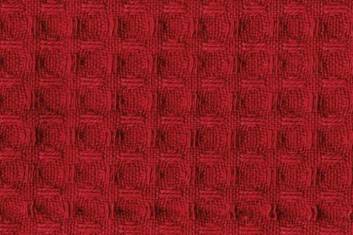 Baumwoll Waffel-Piqué - Uni Rot