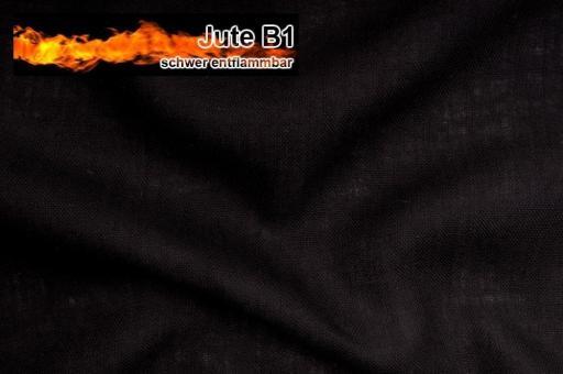 Sackleinen Jute B1 farbig 130 cm Schwarz