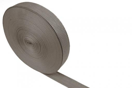 Gurtband - Panamabindung - 4 cm - Meterware Taupe
