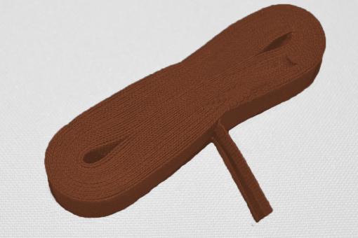 Schrägband 20/40 mm breit - meterweise Braun
