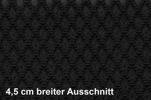 Lederimitat bielastisch - Rautenmuster - Schwarz