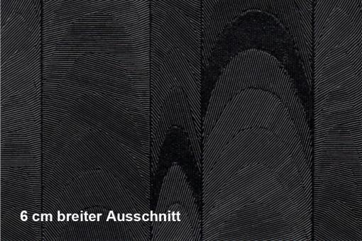 Lederimitat Techno-Look - Wellen - Schwarz