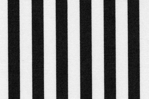 Markise Spain Summer - fein gestreift Schwarz/Weiß