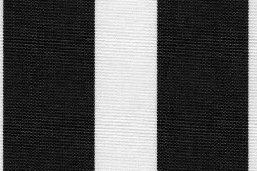 Markise Spain Summer - Streifenvariationen Weiß/Schwarz