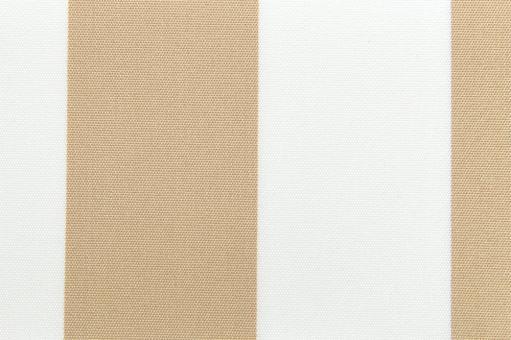 Markisenstoff 140 cm - Italy Sun - Blockstreifen Beige / Weiß