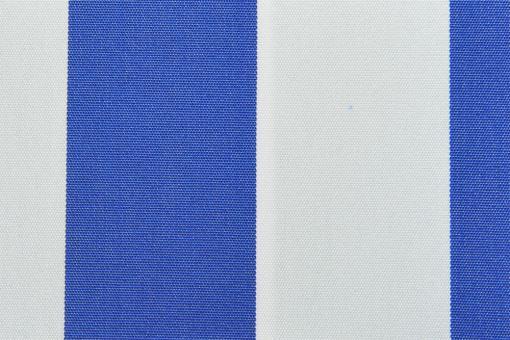 Markisenstoff 140 cm - Italy Sun - Blockstreifen Royal / Weiß