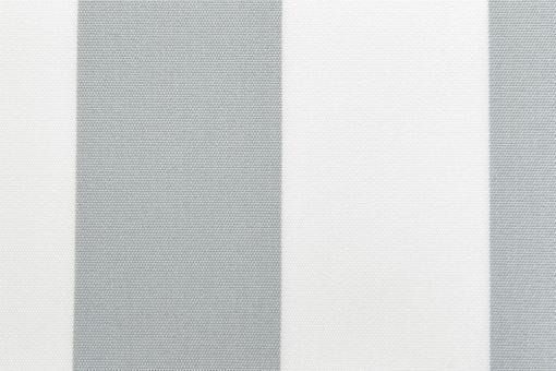 Markisenstoff 140 cm - Italy Sun - Blockstreifen Grau / Weiß