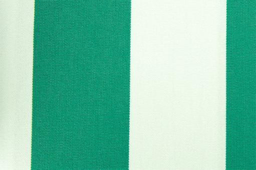 Markisenstoff 140 cm - Italy Sun - Blockstreifen Grün / Weiß