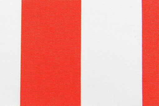 Markisenstoff 140 cm - Italy Sun - Blockstreifen Rot / Weiß