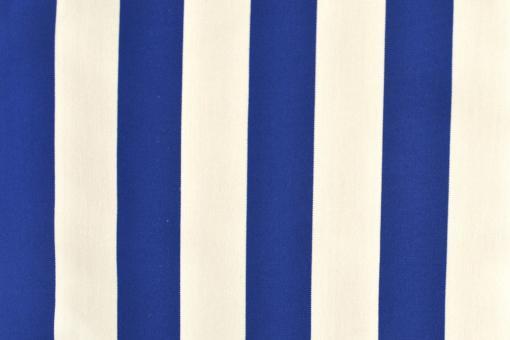 Outdoor-Stoff Garda - Blockstreifen - 60 cm Blau/Weiß
