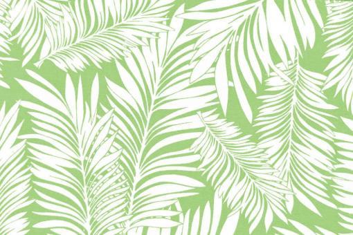 Outdoor Stoff - Spain Terrazza - Blätter - Hellgrün/Weiß