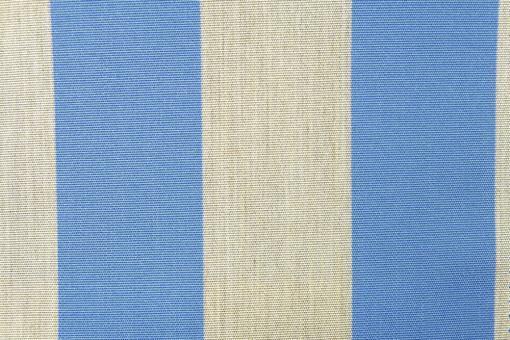 Markisen- und Outdoor-Möbelstoff - Blockstreifen Hellblau/Sand Melange