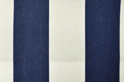 Markisen- und Outdoor-Möbelstoff - Blockstreifen Nachtblau/Weiß