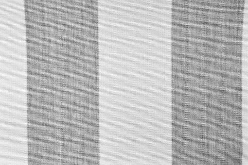 Markisen- und Outdoor-Möbelstoff - Blockstreifen Hellgrau/Weiß
