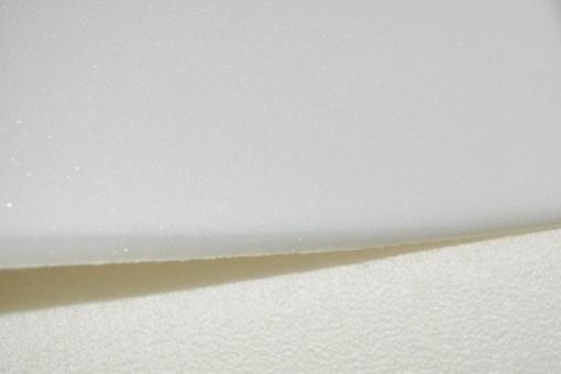 Schaumstoff - 206 x 130 cm - 3 cm dick - Weiß