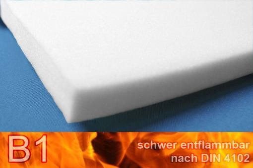 Schaumstoff B1 - extra stabil - 206 x 130 cm - 3 cm dick - Weiß