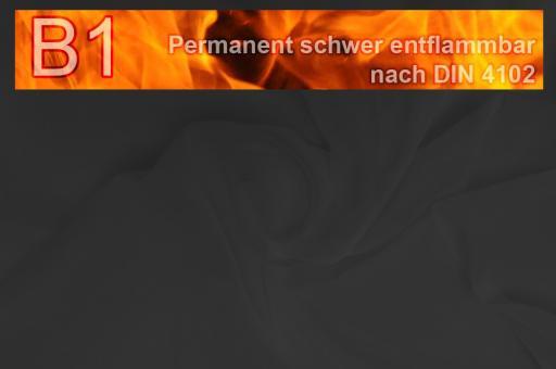 Beschattungsstoff - permanent schwer entflammbar - 420 cm - Schwarz