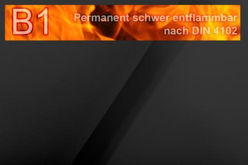 Segeltuch I permanent schwer entflammbar - 610 cm Schwarz