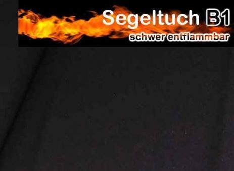 Segeltuch B1 220 cm - Farbe: Schwarz